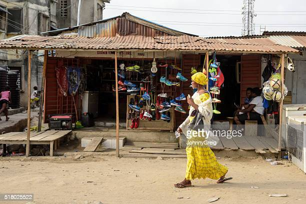 Woman walking in Lekki, Lagos, Nigeria