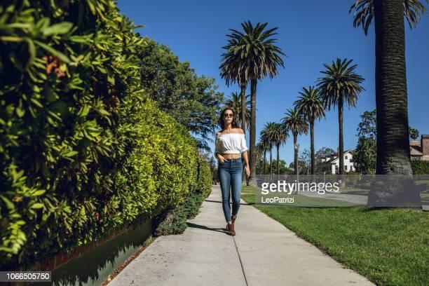 Woman walking in Los Angeles