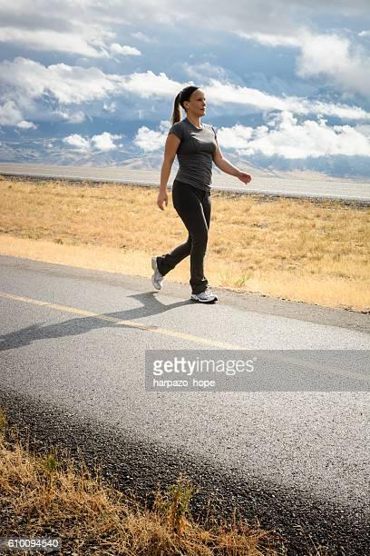Woman Walking in Rural Utah