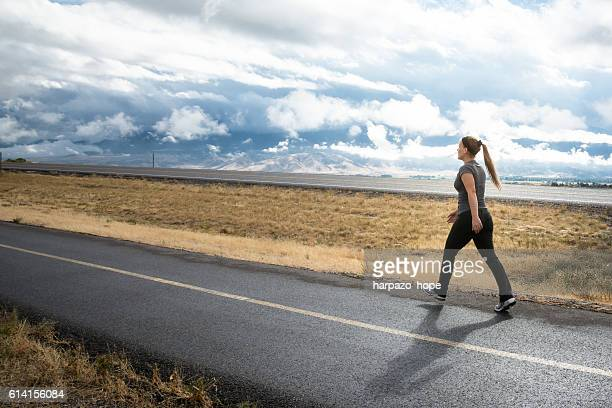 Woman Walking in Rural Utah