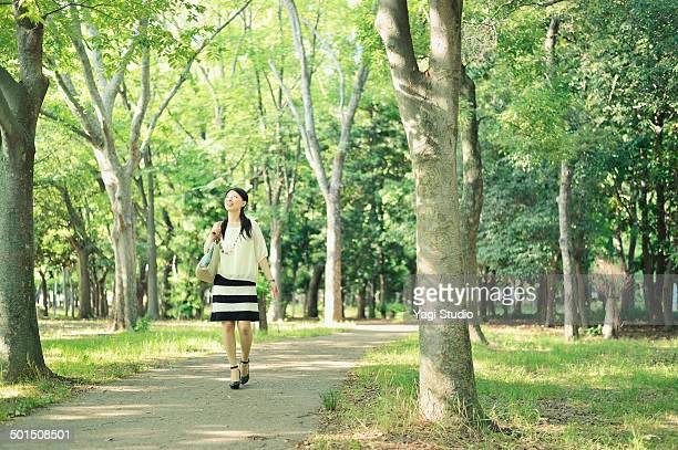 Woman walking in the park