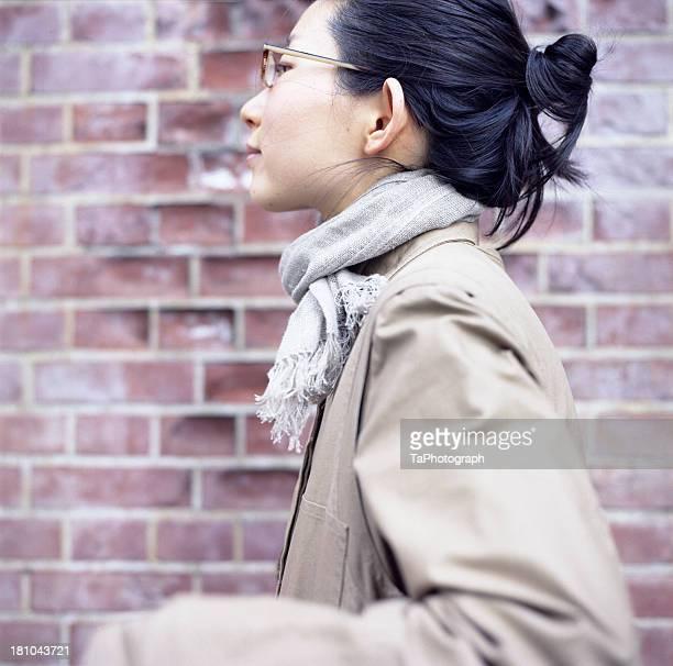 Woman walking lightly