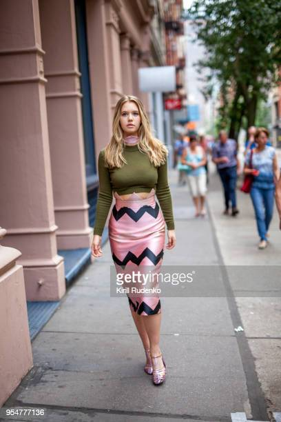 Woman walking the streets of New York