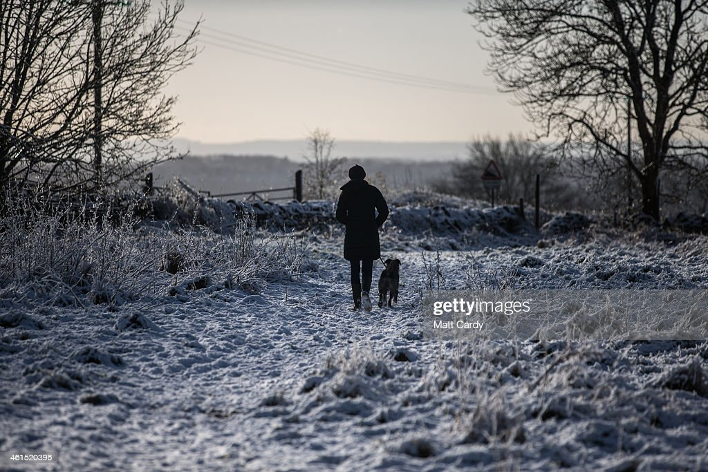 Snow And High Winds Hit The UK : News Photo