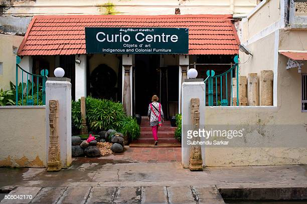 A woman walks into a curio shop in Puducherry Puducherry formerly known as Pondicherry is a Union Territory of India In 1674 Pondicherry became a...