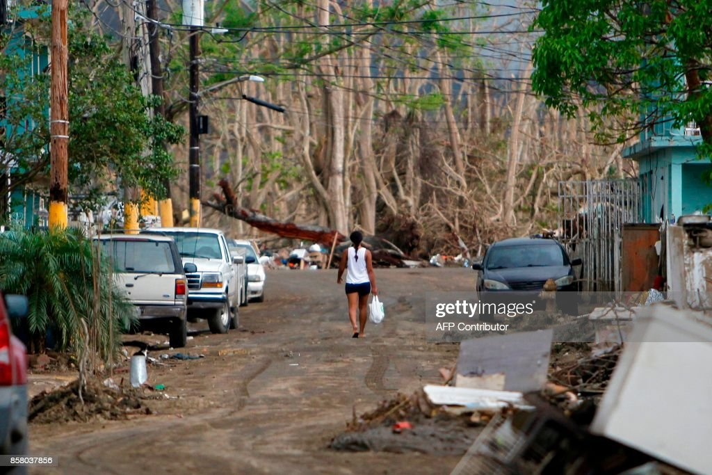 PUERTORICO-US-HURRICANE-WEATHER : News Photo