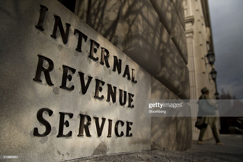 Views Of The IRS Headquarters During Tax Filing Season : News Photo