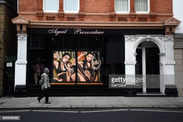 A woman walks past an Agent Provocateur store on February 16 2017 in London England Private equity firm 3i has been looking into options for the...