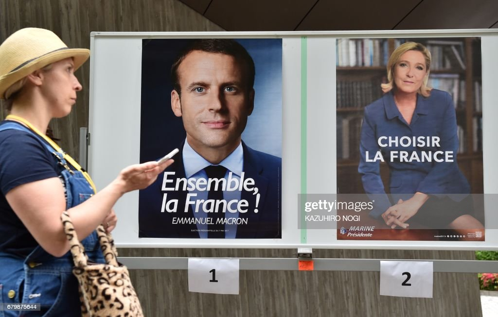 JAPAN-FRANCE2017-VOTE : News Photo