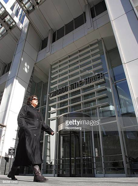 Woman walks past the front facade of an Equity Office Properties building located at 161 North Clark Street in Chicago, Illinois Monday, November 20,...