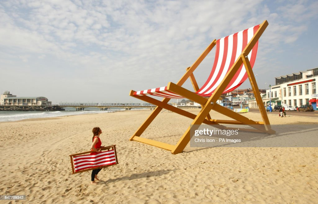 Ordinaire A Woman Walks Past What Is Expected To Be Confirmed As The Worldu0027s Largest  Deckchair On