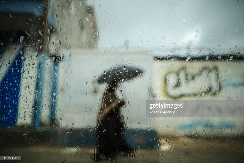 Heavy rains hit Gaza : News Photo