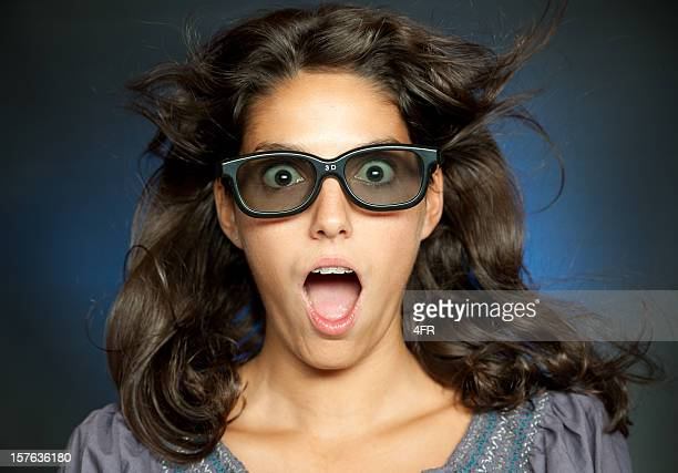 Woman watching 3-D Movies (XXXL)