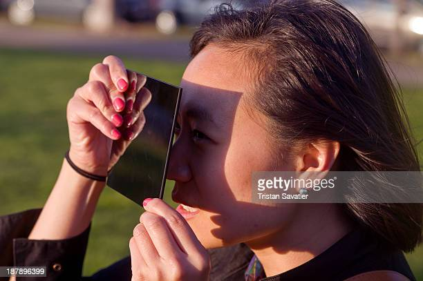 CONTENT] Woman watching a solar eclipse safely through an arc welding glass filter Arc welding glass filters Shade 14 or 16 are safe and work well to...