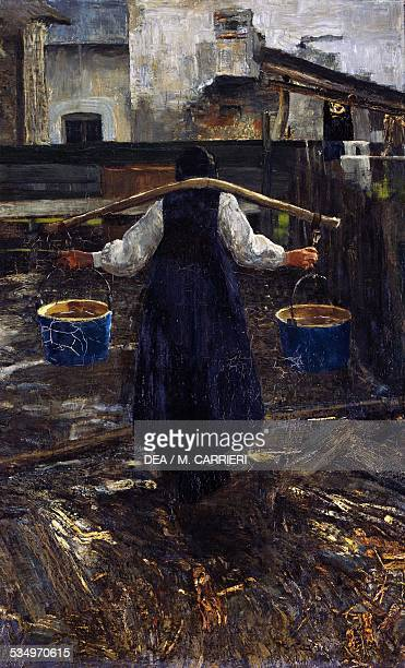Woman water bearer 18861887 by Giovanni Segantini oil on canvas 74x455 cm Italy 19th century