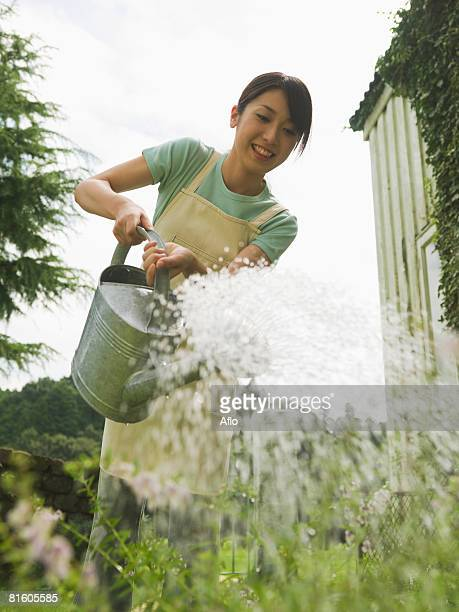 Woman Watering