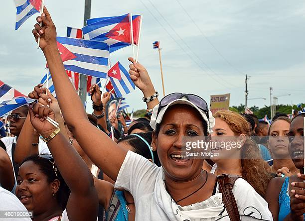CONTENT] A woman waving a Cuban flag at the May Day parade in Plaza de la Revolución Havana Cuba The May 1st International Workers' Day parade is...