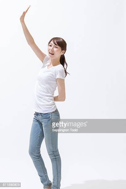 Woman Waving Hand