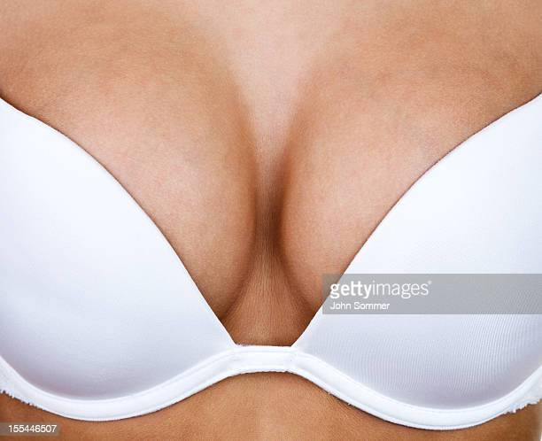 Woman wearing a bra