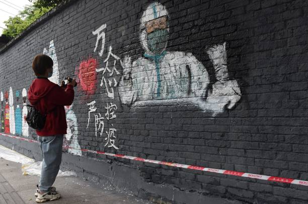CHN: Paintings Paying Tribute To Anti-Epidemic Workers In Chongqing