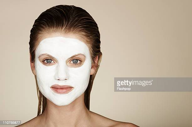 Woman wearing a face pack