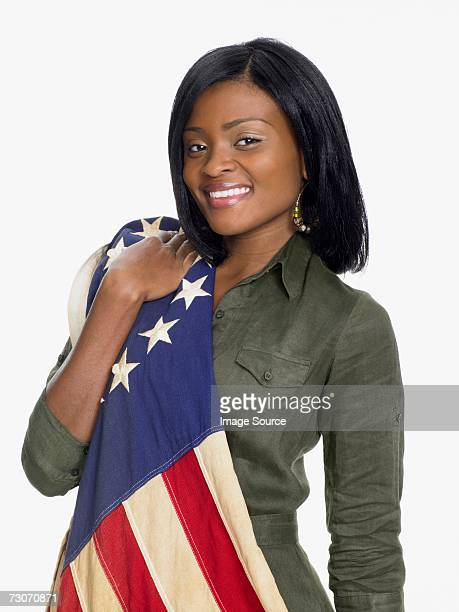 Woman wearing a flag