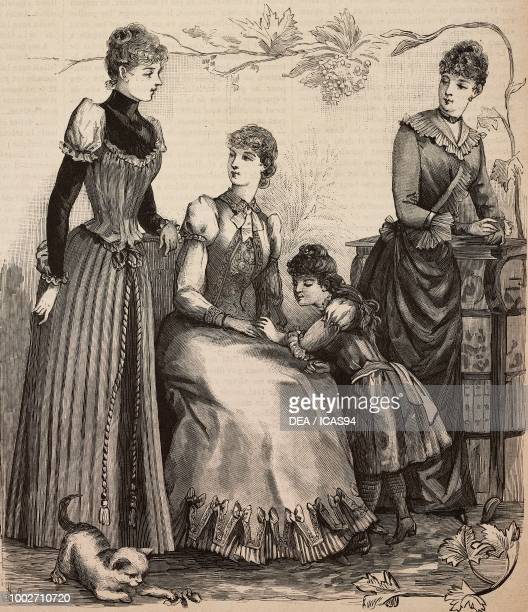 Woman wearing a house dress woman wearing a summer dress a 45 yearold girl in a pleated dress a girl in a draped dress bodice with ruffle designs by...