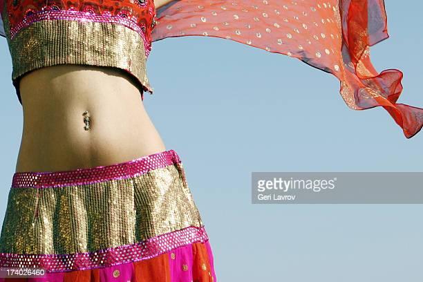 Woman wearing a sari