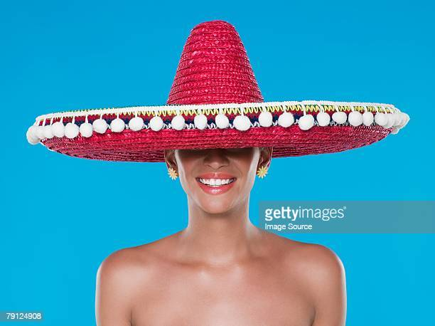 Woman wearing a sombrero