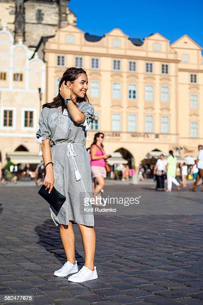 woman wearing a traditional dress - street style ストックフォトと画像