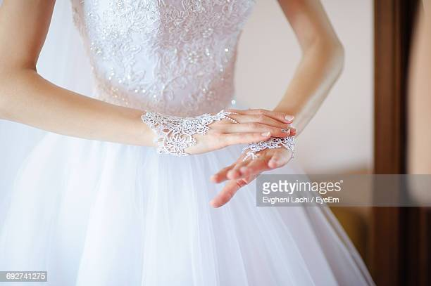 woman wearing a wedding dress - needlecraft stock pictures, royalty-free photos & images