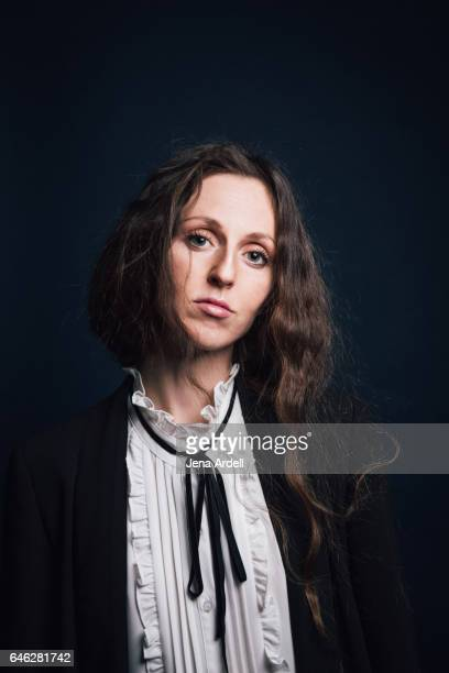 Woman Wearing Androgynous Fashion