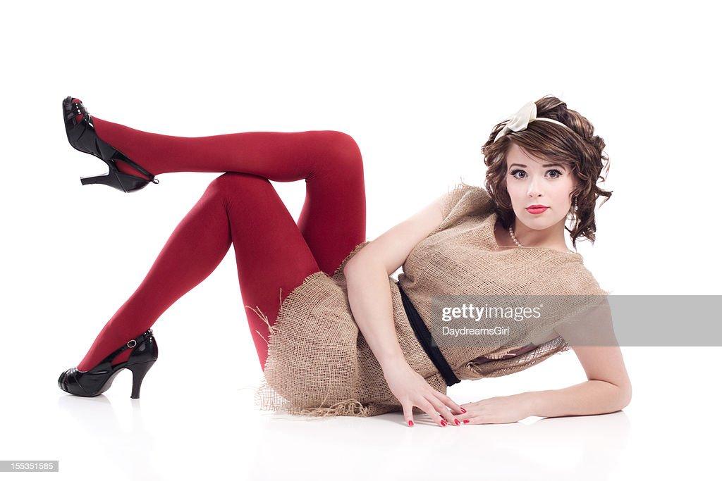 Mit Kleid Stock Images Frau Sackleinwand FotoGetty Kartoffelsack n0wP8OXk