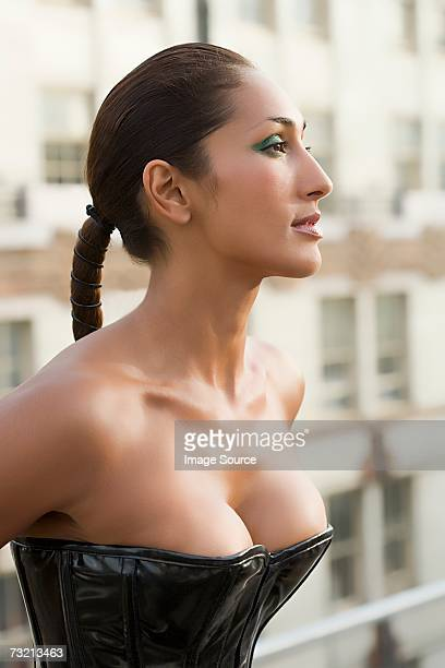 Woman wearing corset