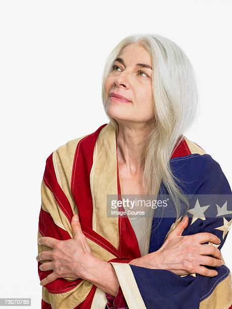 Woman wearing flag