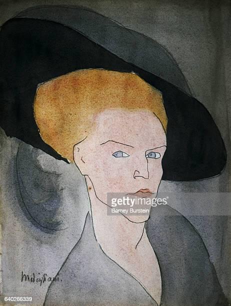 Woman Wearing Hat by Amedeo Modigliani