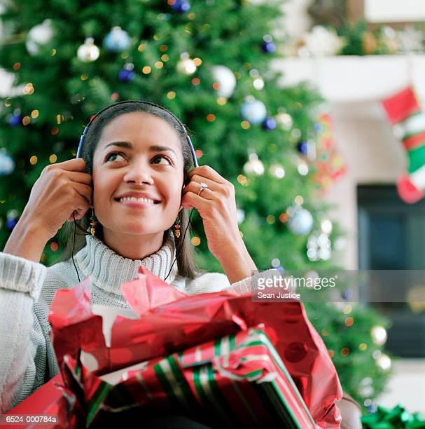 Woman Wearing Headphones