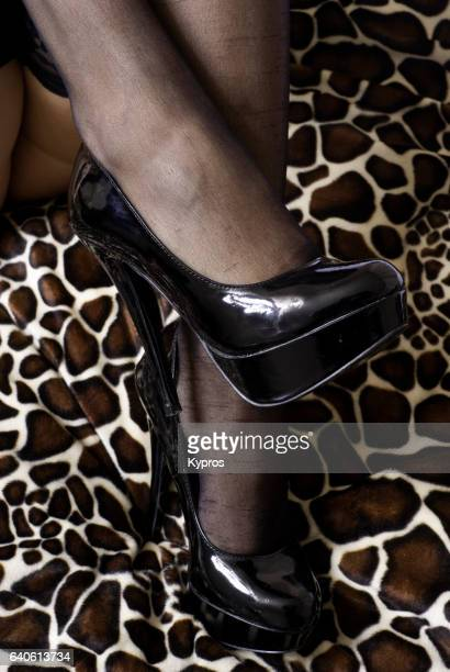 Woman Wearing High Heeled Shoes, Close Up