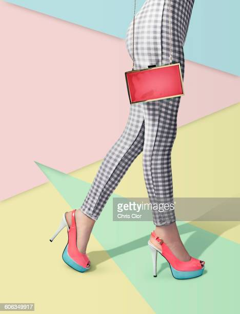 Woman wearing high heels and pants