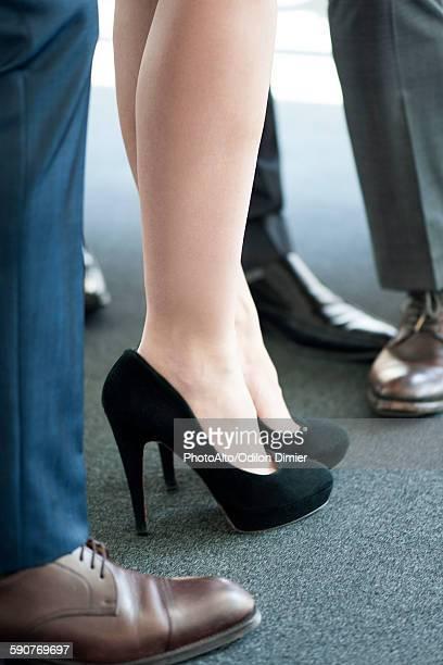 Woman wearing high heels