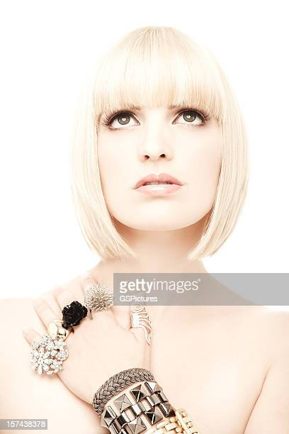 woman wearing jewelery - fringe stock pictures, royalty-free photos & images
