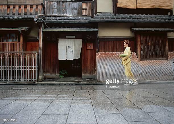 Woman wearing Kimono