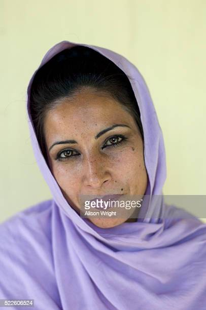 Woman Wearing Light Purple Headscarf