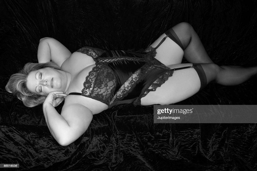 Woman wearing lingerie : Foto de stock
