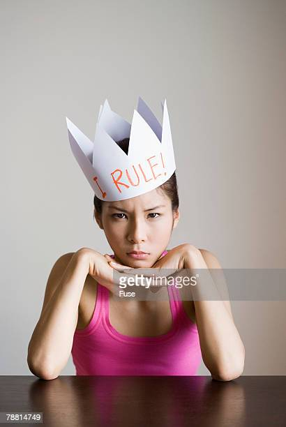 Woman Wearing Paper Crown