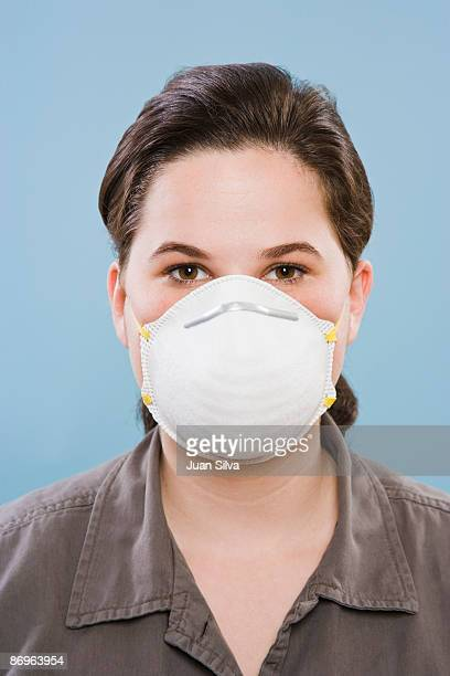 Woman wearing protective mask, portrait
