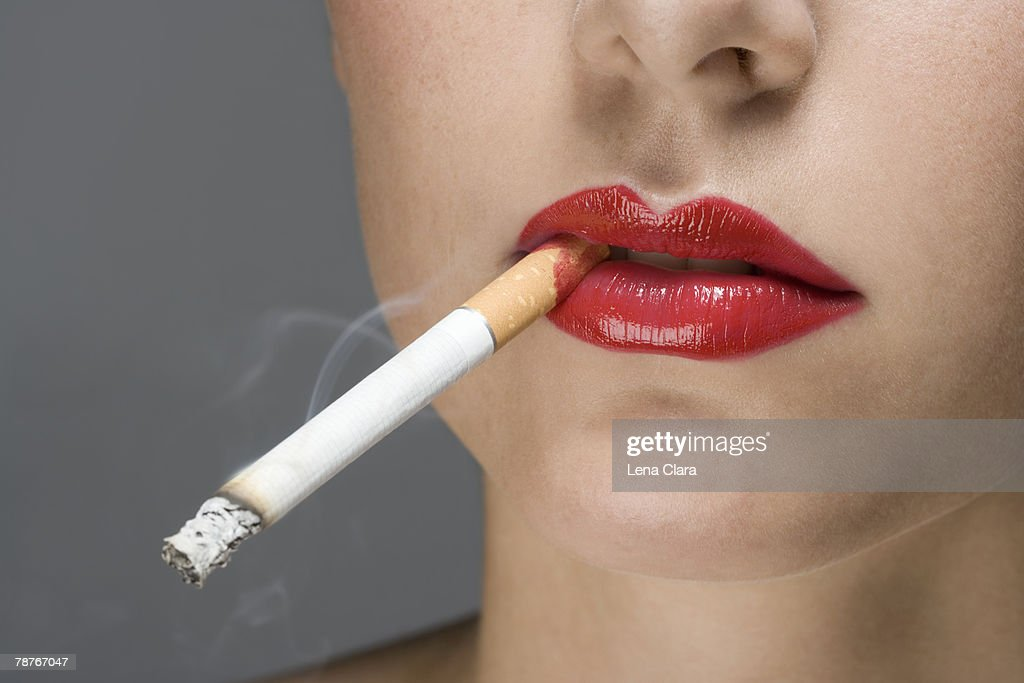 Smoking A Ciggarette