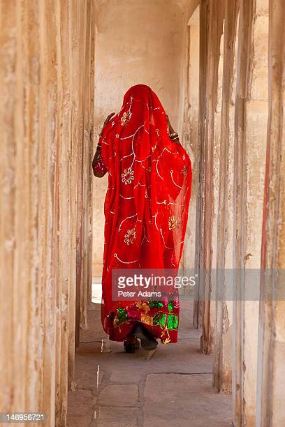 Woman wearing Sari, Meherangarh Fort, India