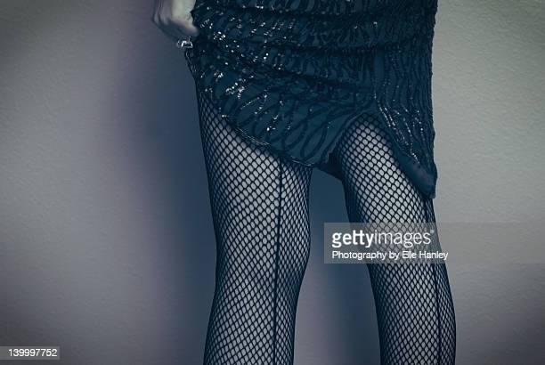 Woman wearing sequin dress
