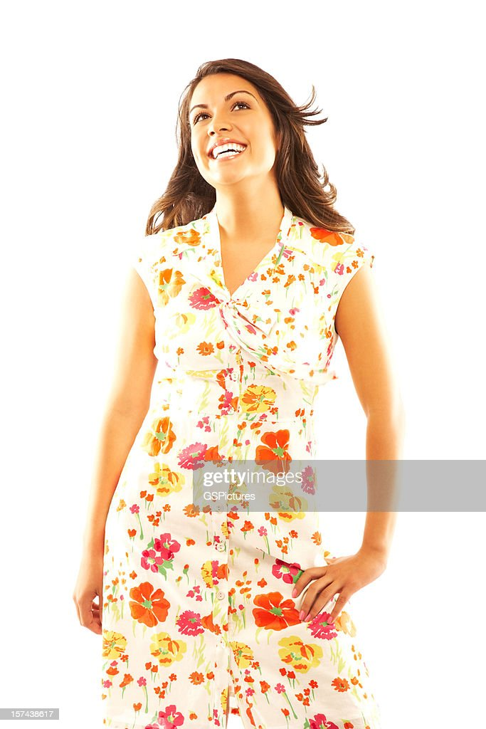 Woman Wearing Sundress : Stock Photo